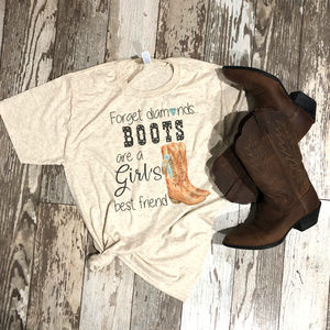 Country Western Boots Diamonds Shirt